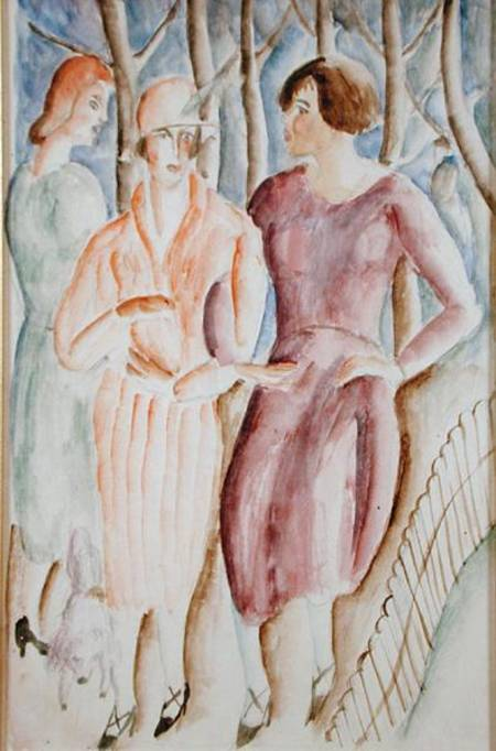 French Girls by Christopher Wood (1901-1930, United Kingdom)