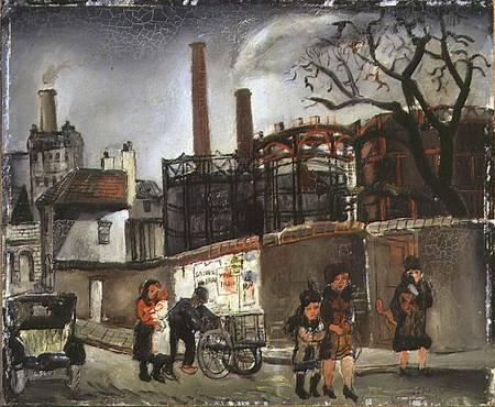 Order Art Reproduction : Street Scene In Paris by Christopher Wood (1901-1930, United Kingdom) | ArtsDot.com