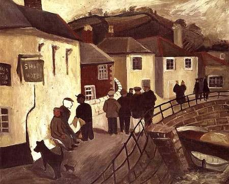 The Ship Hotel, Mousehole, Cornwall by Christopher Wood (1901-1930, United Kingdom) | ArtsDot.com