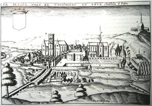 Claude Chastillon - Ancient Etching Of The Town Of..