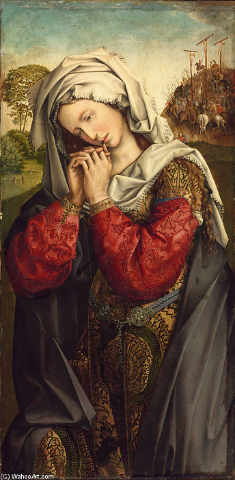 The Mourning Mary Magdalene by Colijn De Coter (Colyn Van Brusele) (1450-1522, Belgium) | Museum Art Reproductions | ArtsDot.com