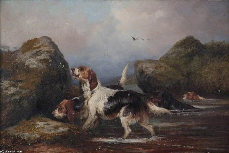 Dogs by Colin Graeme Roe (1858-1910, United Kingdom)