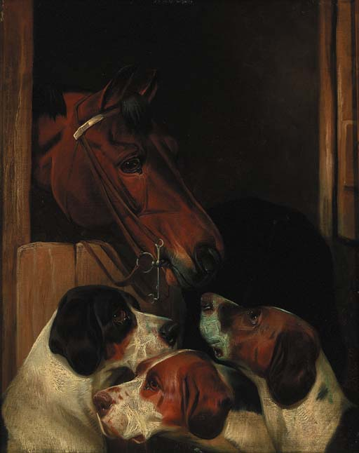 Stable Mates by Colin Graeme Roe (1858-1910, United Kingdom)