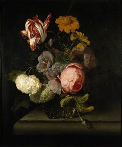 Cornelis Kick - A Vase Of Flowers