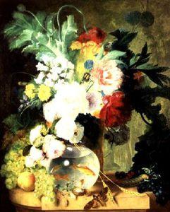 Cornelis Kuypers - Still Life With Flowers A..