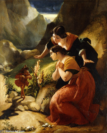 The Time I've Lost In Wooing by Daniel Maclise (1806-1870, Ireland)