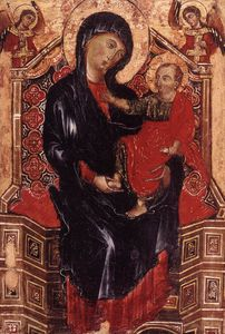 Deodato Di Orlandi - Virgin And Child Enthroned Bet..