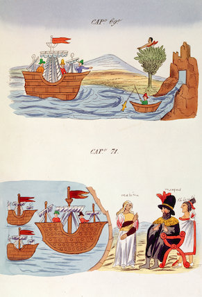 Illustrations From 'historia De Las Indias by Diego Homem