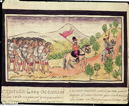 The Totonac Indians Helping The Conquistadors by Diego Homem