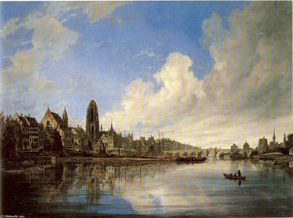 View Of The City Of Frankfurt From The West by Domenico Quaglio (1787-1837, Italy)