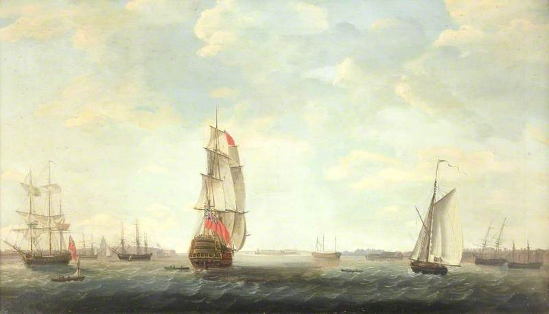 Shipping - by Dominic Serres (1722-1793, France) | Paintings Reproductions Dominic Serres | ArtsDot.com
