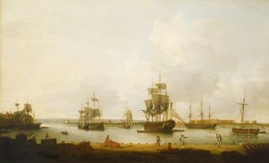 Dominic Serres - Ships Off The Gun Wharf At Portsmouth