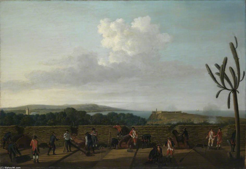The Capture Of Havana - by Dominic Serres (1722-1793, France) | Museum Art Reproductions Dominic Serres | ArtsDot.com