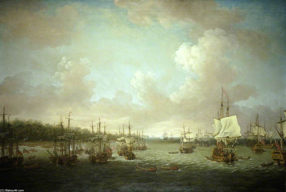 The Capture Of Havana by Dominic Serres (1722-1793, France) | Paintings Reproductions Dominic Serres | ArtsDot.com