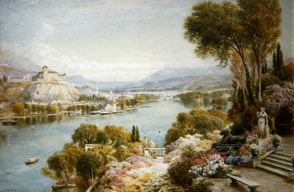 Lake Maggiore by Ebenezer Wake Cook (1843-1926, United Kingdom)