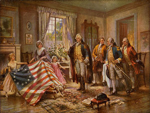 Edward Percy Moran - The Birth Of Old Glory