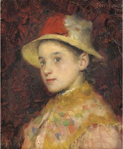 Edward William Stott - Portrait Of A Young Girl