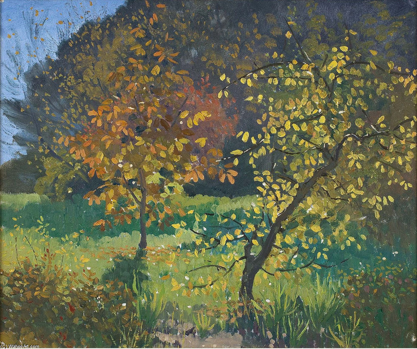 Autumn, Manar by Elioth Gruner (1882-1939, New Zealand) | Museum Quality Reproductions | ArtsDot.com