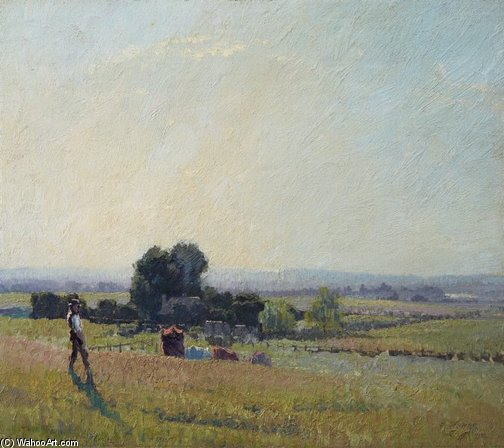 The Morning Light by Elioth Gruner (1882-1939, New Zealand) | Painting Copy | ArtsDot.com