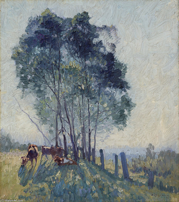The Wattles by Elioth Gruner (1882-1939, New Zealand)