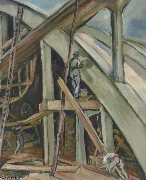 Construction Of Sheds At Istres by Emile Othon Friesz (1879-1949, France) |  | ArtsDot.com
