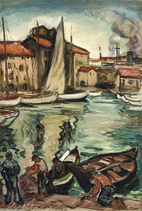 Port Of Toulon by Emile Othon Friesz (1879-1949, France) |  | ArtsDot.com