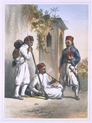 Nizamior, Regular Troops Of The Turkish Army by Émile Prisse D'avennes (1807-1879, France) | ArtsDot.com