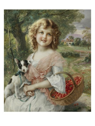 The Cherry Pickers by Emile Vernon (1872-1920, France)