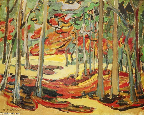 Autumn Woods by Emily Carr (1871-1945, Canada)