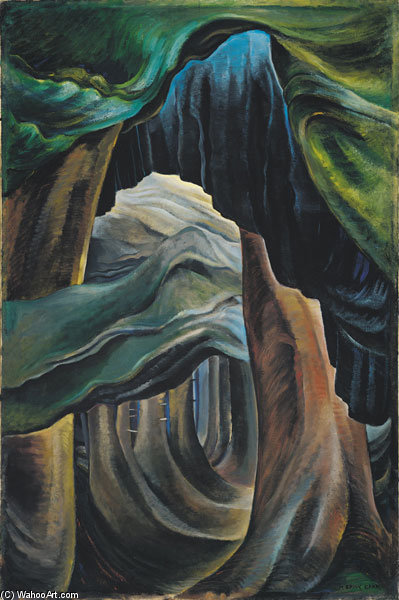 Forest, British Columbia by Emily Carr (1871-1945, Canada)