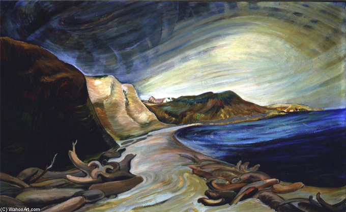 Shoreline by Emily Carr (1871-1945, Canada)