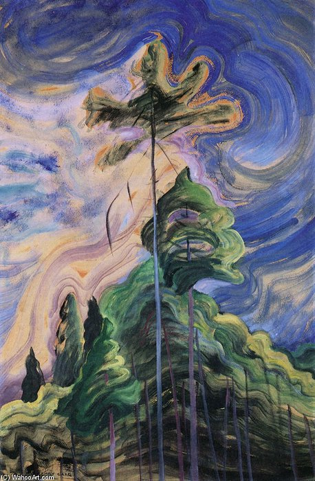 Sunshine And Tumult by Emily Carr (1871-1945, Canada)