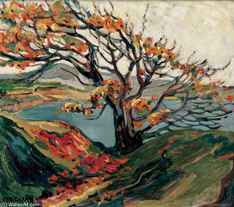 Tree In Autumn by Emily Carr (1871-1945, Canada) | Museum Art Reproductions | ArtsDot.com
