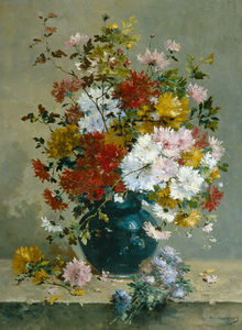 Eugene Henri Cauchois - Bunch Of Flowers