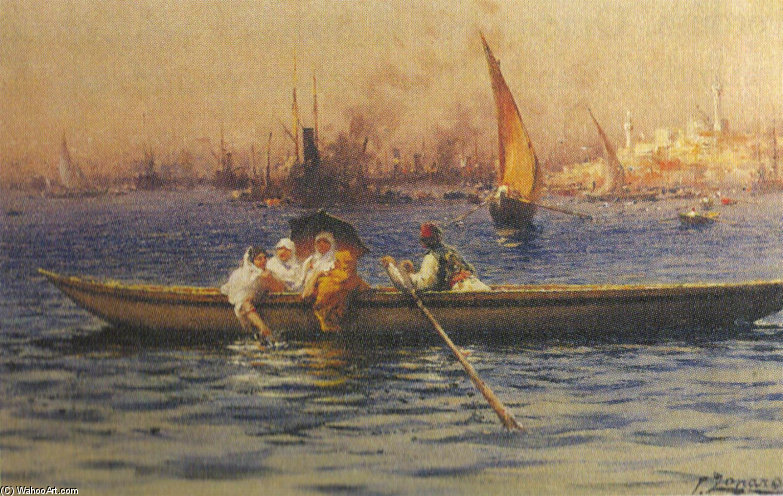 Boat by Fausto Zonaro (1854-1929, Austrian Empire)