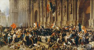 Henri Félix Emmanuel Philippot.. - Lamartine Rejects The Red Flag