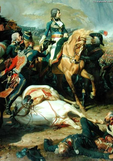 The Battle Of Rivoli by Henri Félix Emmanuel Philippoteaux (1815-1884, France)