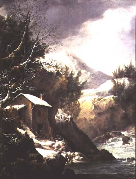 Winter Landscape (pair Of - (81021)) by Francesco Foschi (1710-1780, Italy) | Painting Copy | ArtsDot.com
