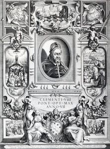 Francesco Villamena - Pope Clement Viii