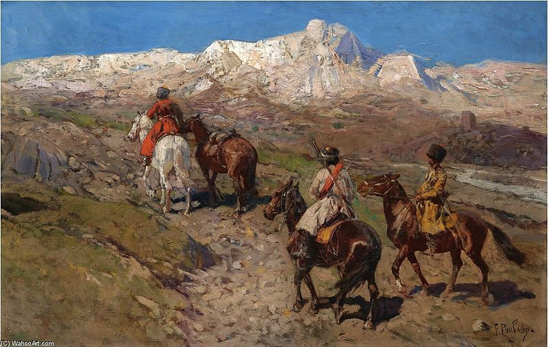 Cossacks by Francois Flameng (1856-1923, France)