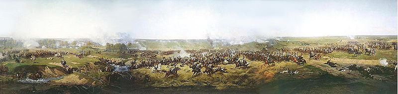 Panorama Of Moscow Battle - by Francois Flameng  (order Fine Art hand made painting Francois Flameng)