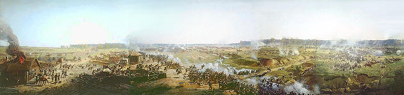 Panorama Of Moscow Battle - by Francois Flameng (1856-1923, France)