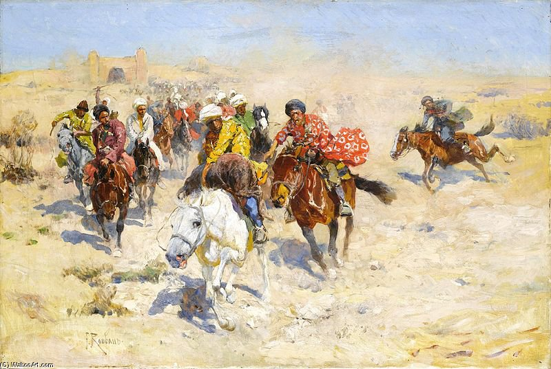 The Charge Before The Gates Of Khiva by Francois Flameng (1856-1923, France)