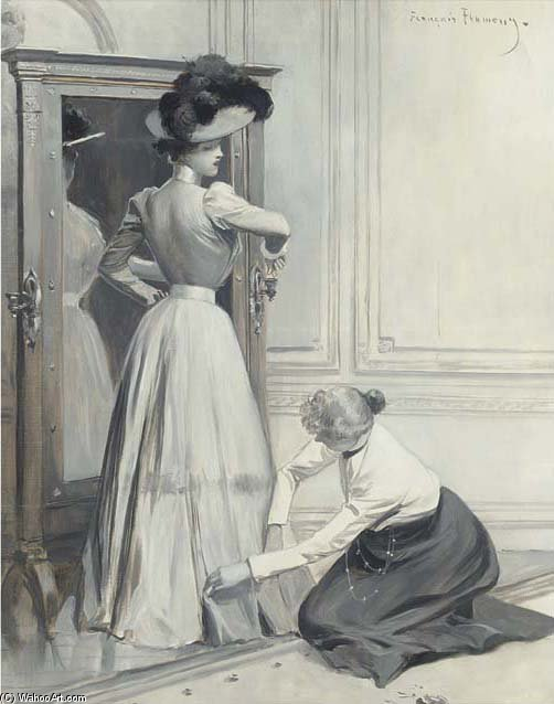 The Finishing Touches by Francois Flameng (1856-1923, France)