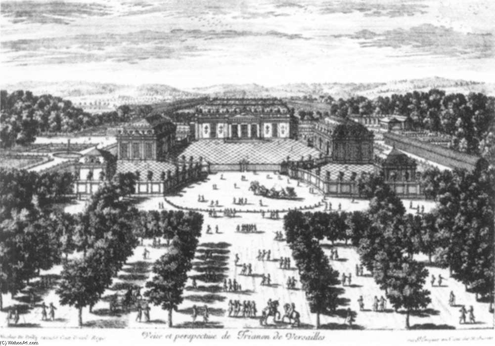 Buy Museum Art Reproductions | View And Perspective Of The Trianon At Versailles by François De Poilly (1623-1693, France) | ArtsDot.com