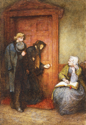 At The Sick Man's Door by Frederick Walker (1840-1875, United Kingdom)