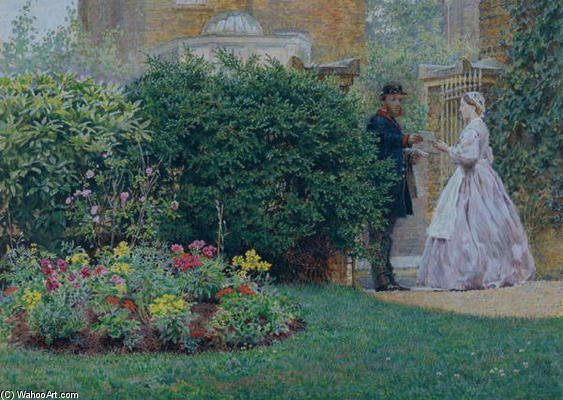 My Front Garden - by Frederick Walker (1840-1875, United Kingdom)