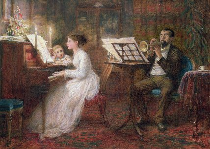 The Music Lesson by Frederick Walker (1840-1875, United Kingdom)