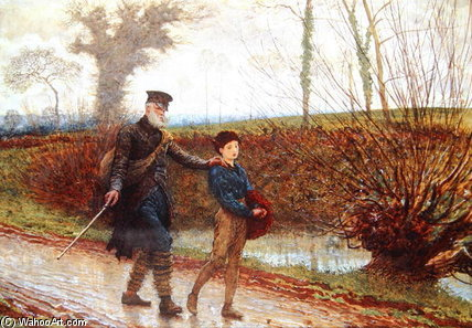 Wayfarers by Frederick Walker (1840-1875, United Kingdom)