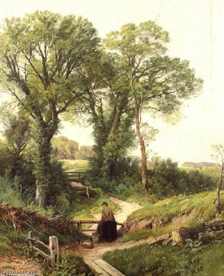 Ripley, Surrey by Frederick William Hulme (1816-1884, United Kingdom)